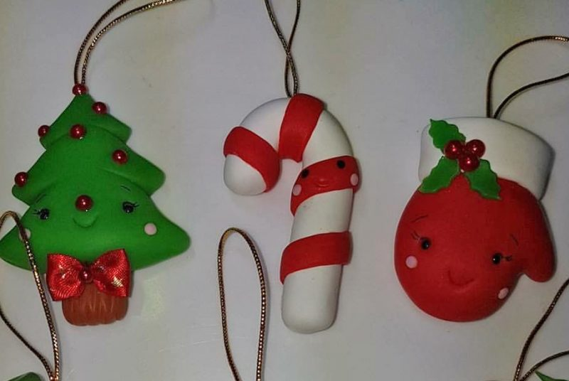 Polymer Clay Christmas Tree Decorations.Christmas Ornaments In Polymer Clay Sandra Temple Artist